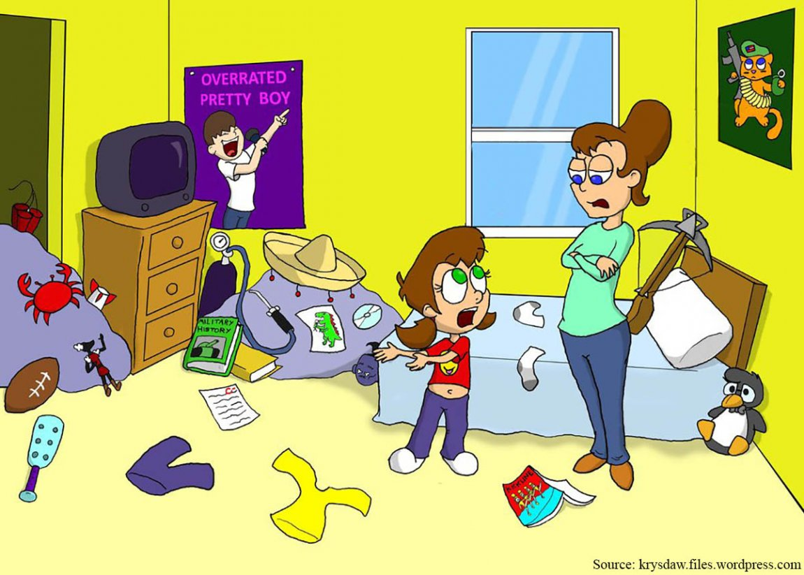 Tidy My Bedroom Clipart.