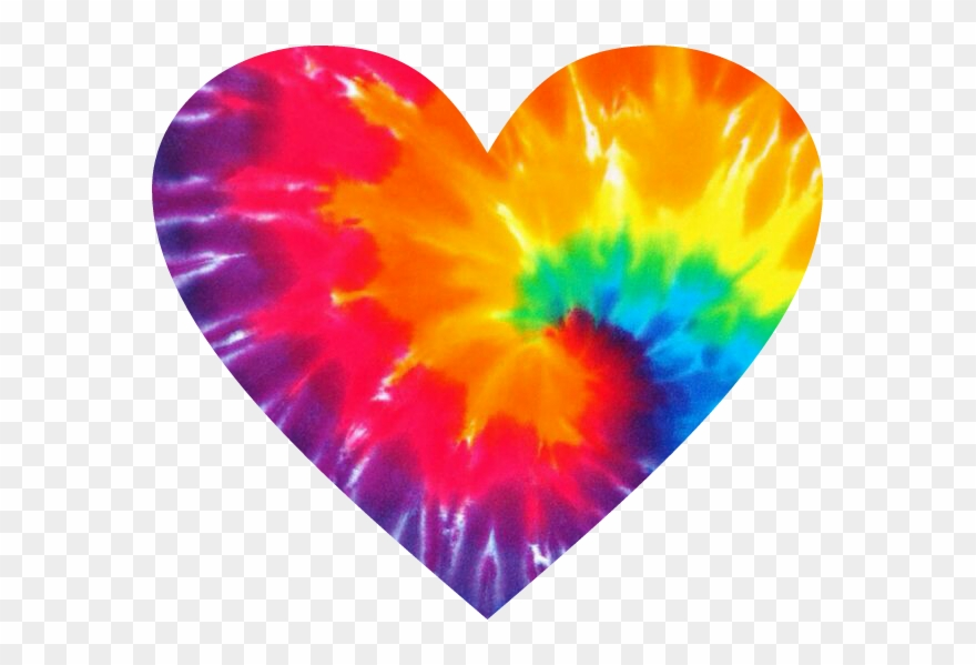 Hippie Hippielove Love Heart Tiedye.