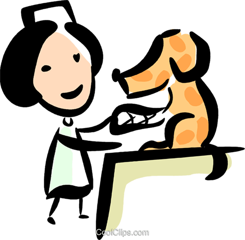 Tierarzt Vektor Clipart Bild.