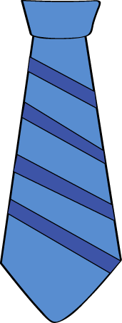 Blue Striped Ties Clipart.