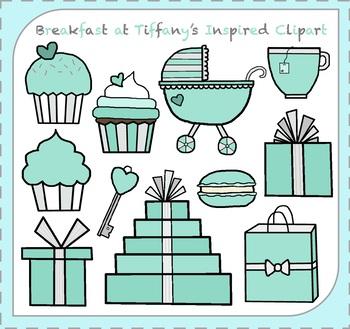 Breakfast at Tiffany\'s Clipart / Blue Box Clipart / Breakfast Clipart.