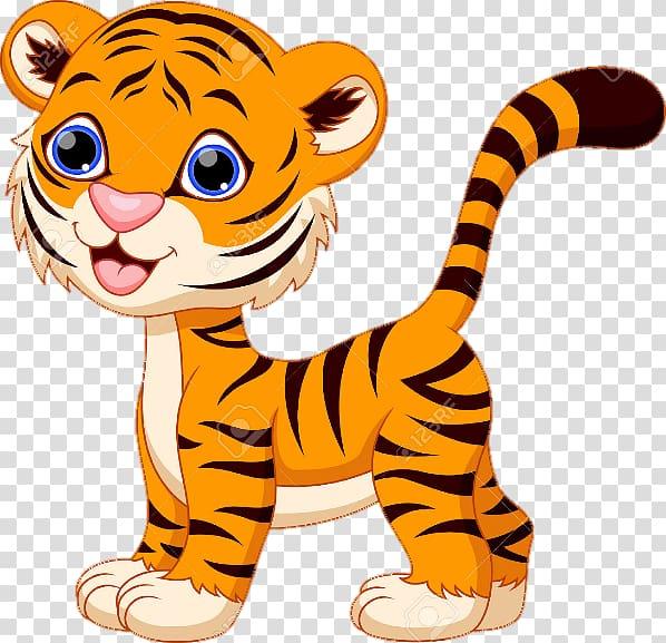 Tiger Cartoon , tiger transparent background PNG clipart.