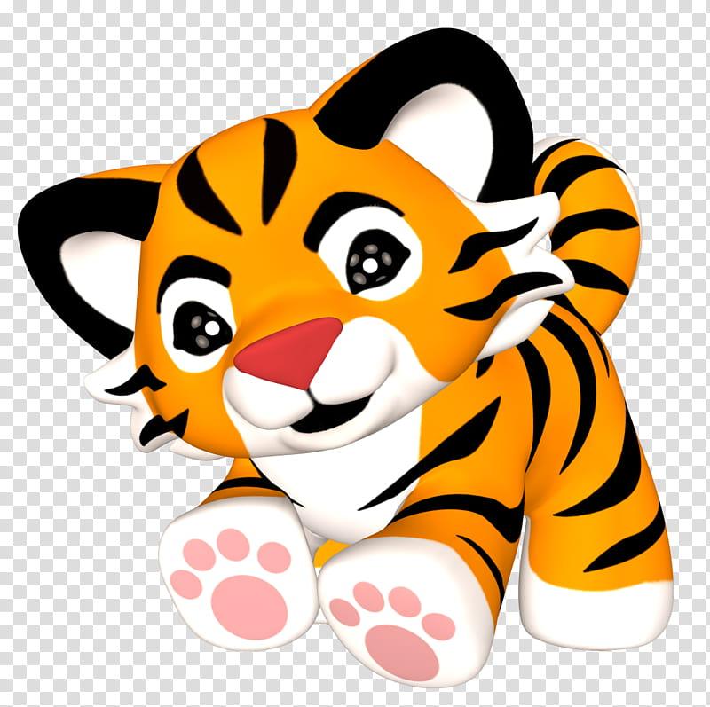 Tiger , tiger cartoon character transparent background PNG.