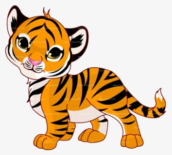 Free Cute Tiger Clip Art with No Background.