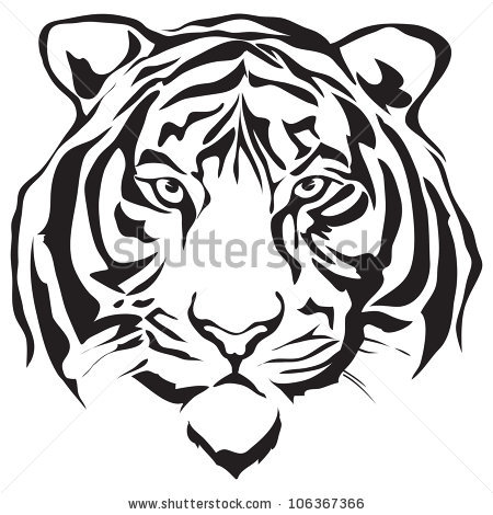 Tiger Silhouette Stock Images, Royalty.