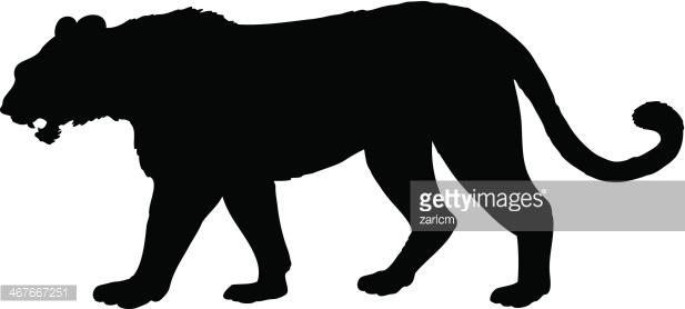Tiger Silhouette Vector Art.
