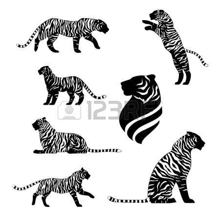 483 Tiger Jumping Stock Vector Illustration And Royalty Free Tiger.