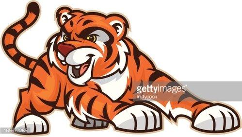 Tiger Cub Clipart Image.