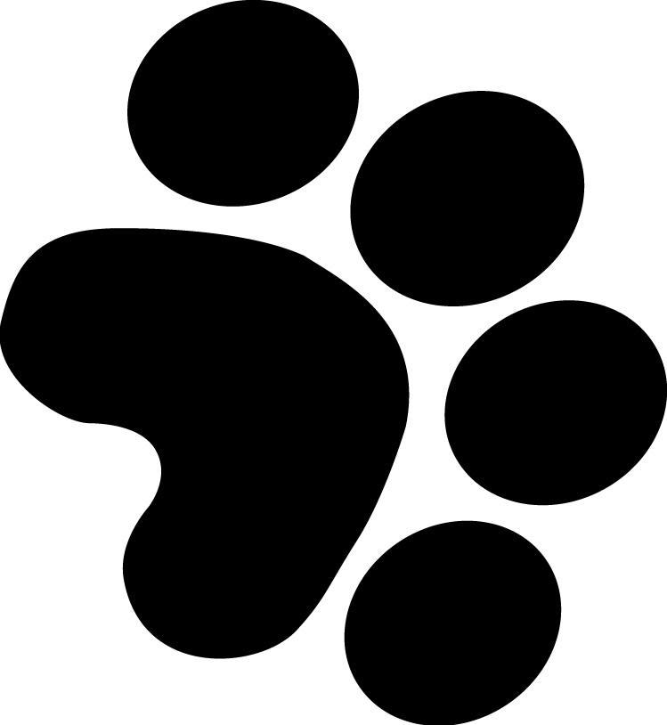 Tiger Paw Print Clip Art N8 free image.