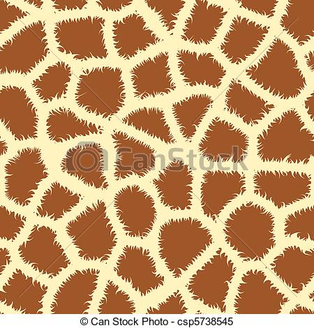 Vector Illustration of Seamless tiling animal print patterns of.