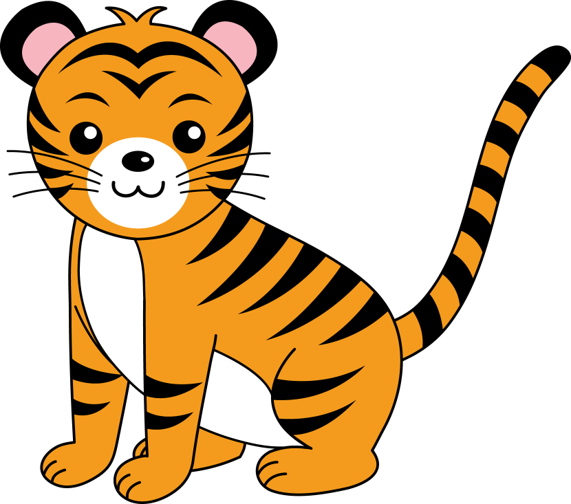 Showing post & media for Cartoon tigers clipart.