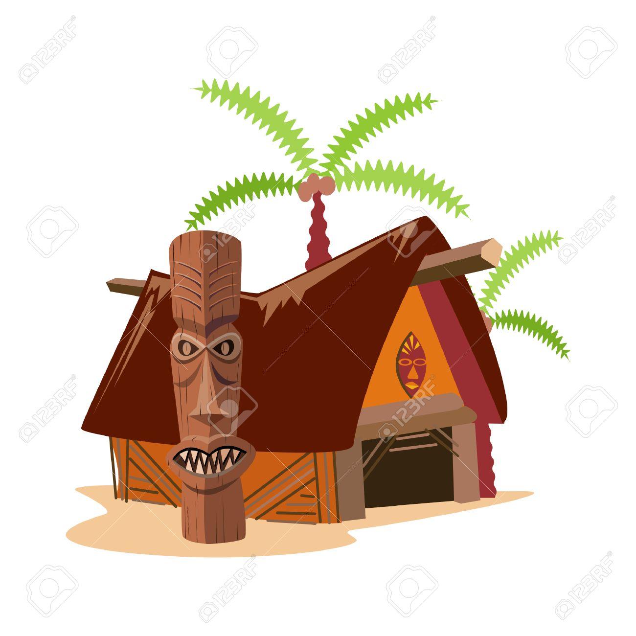 Tiki hut clipart 3 » Clipart Station.