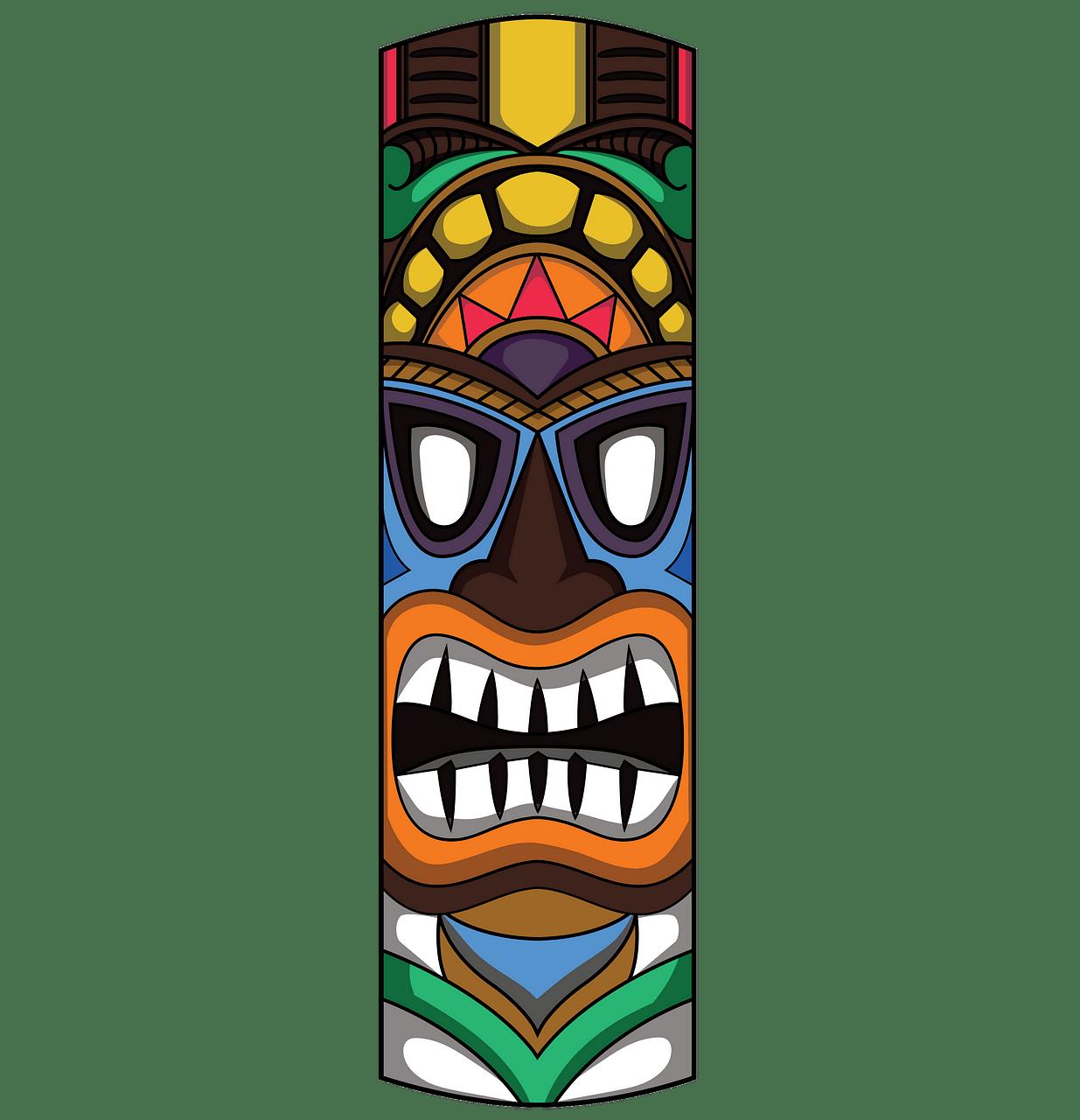 Tiki Mask clipart. Free download..
