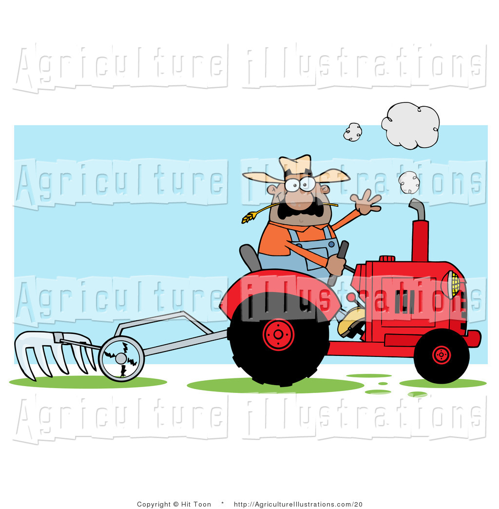 Agriculture Clipart of a Hispanic Male Farmer Waving and.