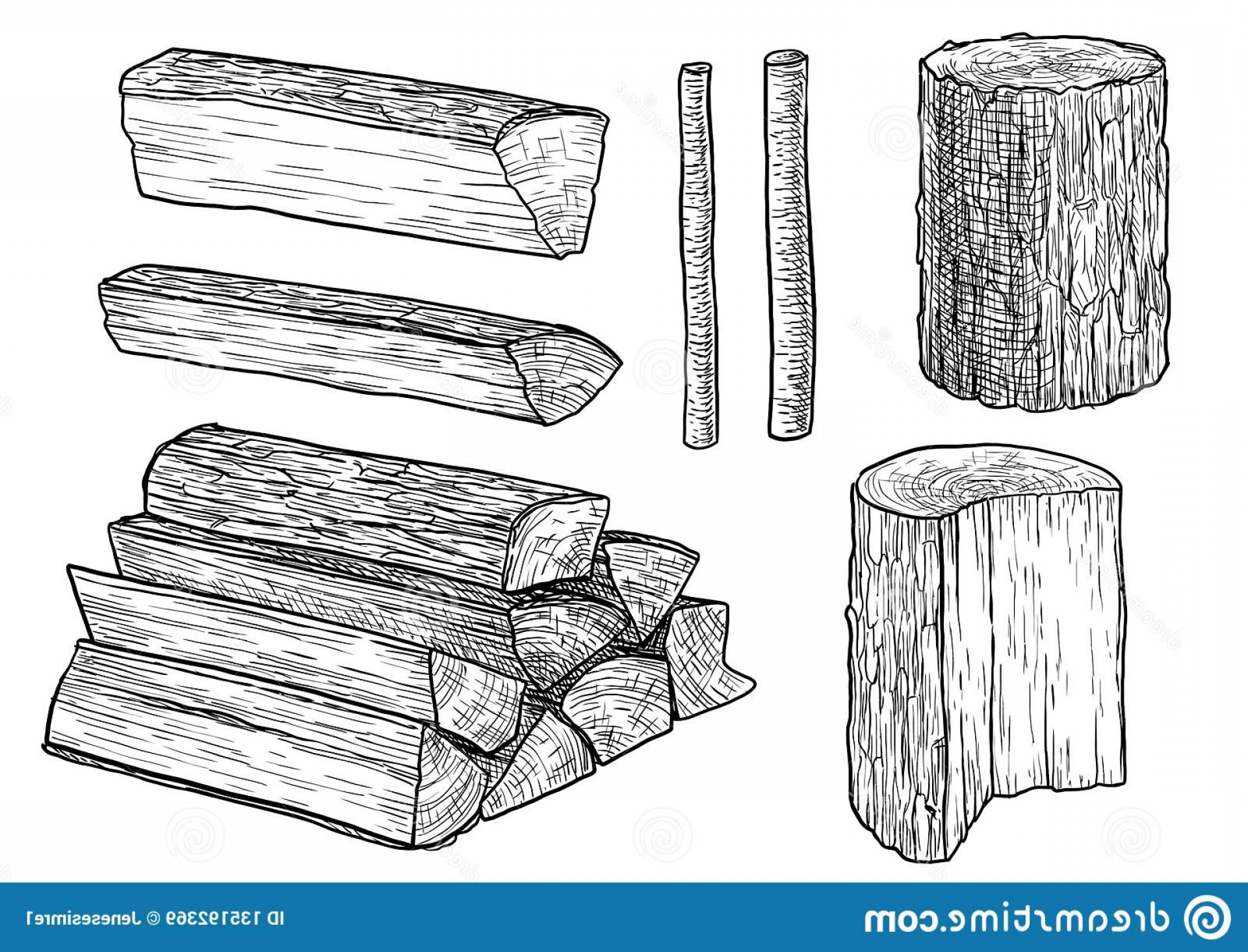 Logging Clip Art Vector.