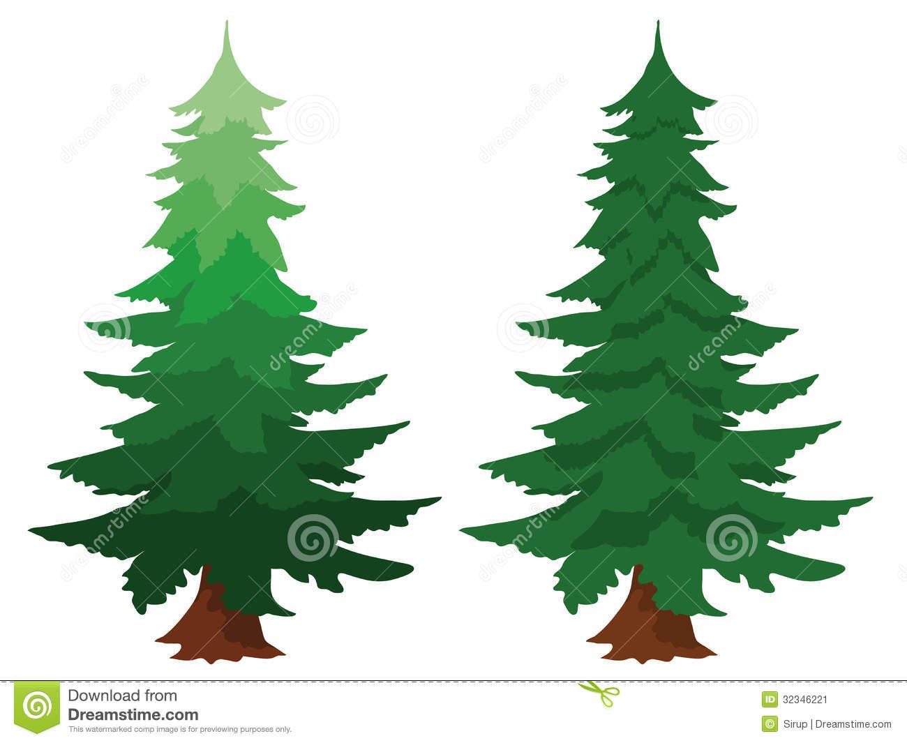 Image of Evergreen Fir Tree Clipart.