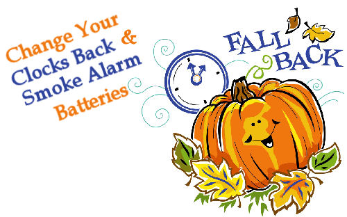 Clocks Back 2016 Clipart.