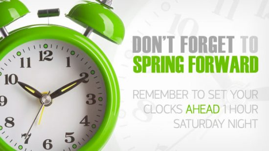 Time to Change Time Again: Daylight Saving Time Returns.