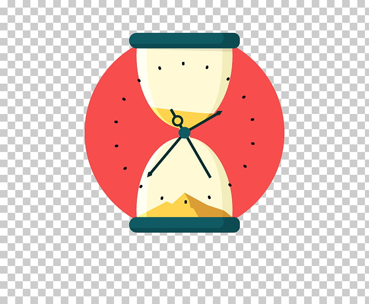 Hourglass Time Clock , Timing funnel sand, red and beige.