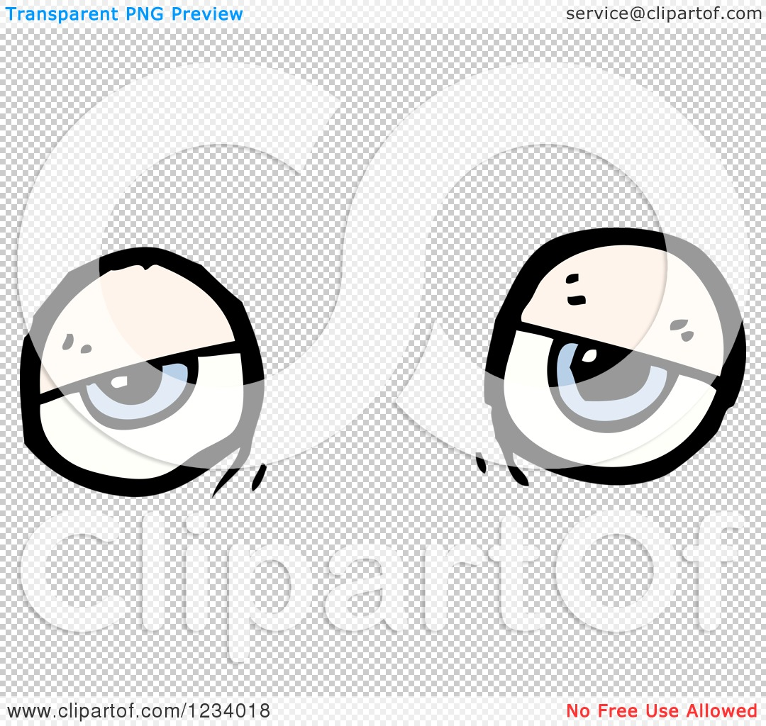 Clipart of Tired Eyes.