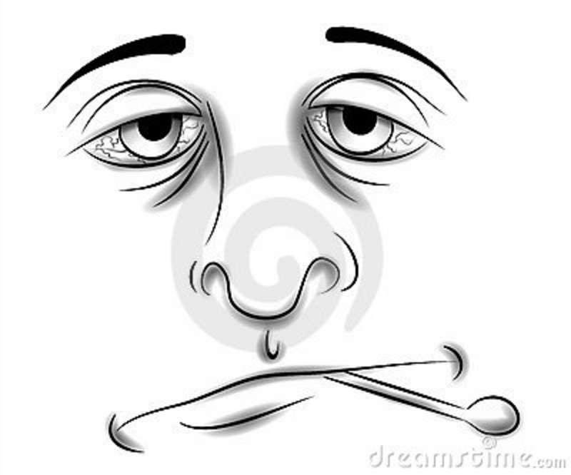 Tired Face Clip Art.