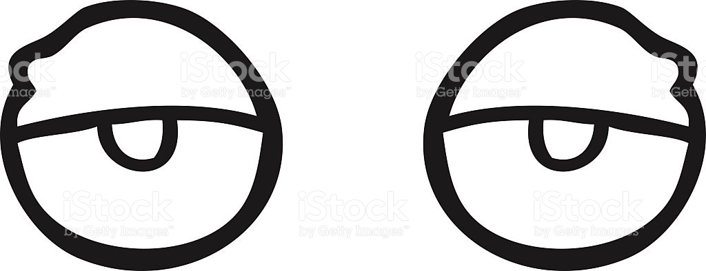 Black And White Cartoon Tired Eyes stock vector art 517906772.