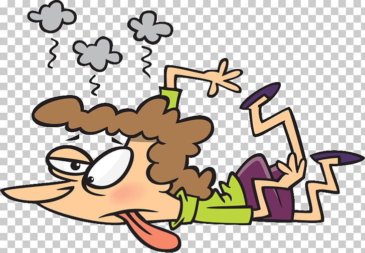 Fatigue Cartoon Woman , TIRED PNG clipart.