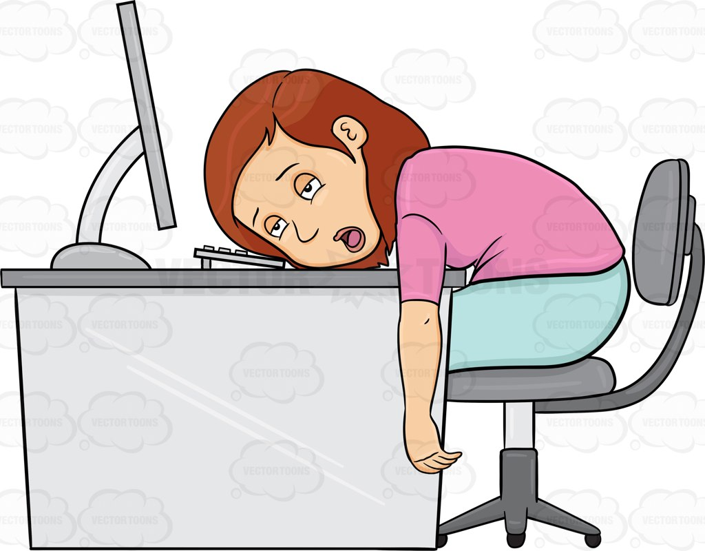 Clipart Exhausted Person.