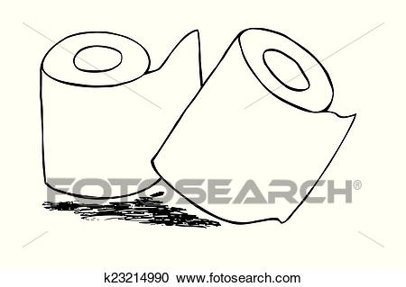 Tissue Paper Roll Clipart.