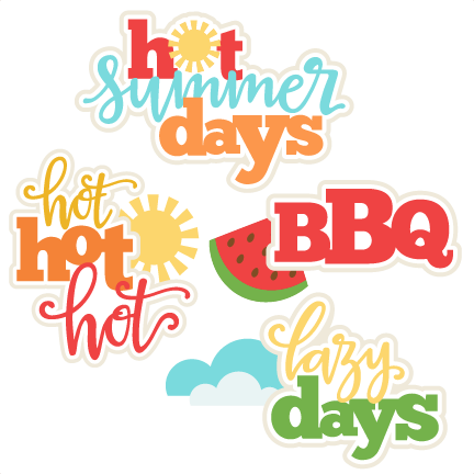 Summer Titles SVG scrapbook cut file cute clipart files for.