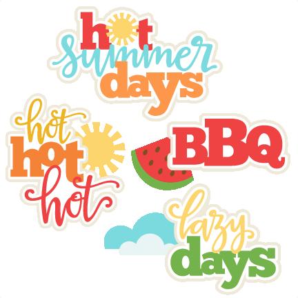 Summer Titles SVG scrapbook cut file cute clipart files for.