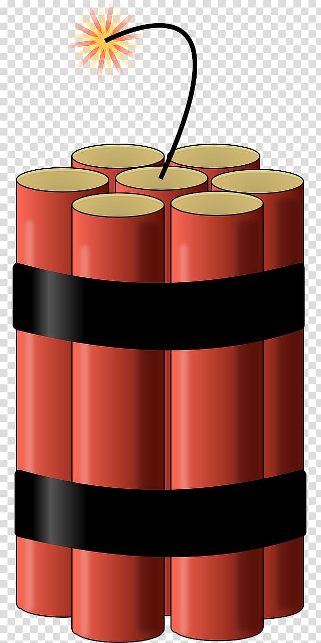Red dynamite illustration, Dynamite TNT Explosion , bomb.