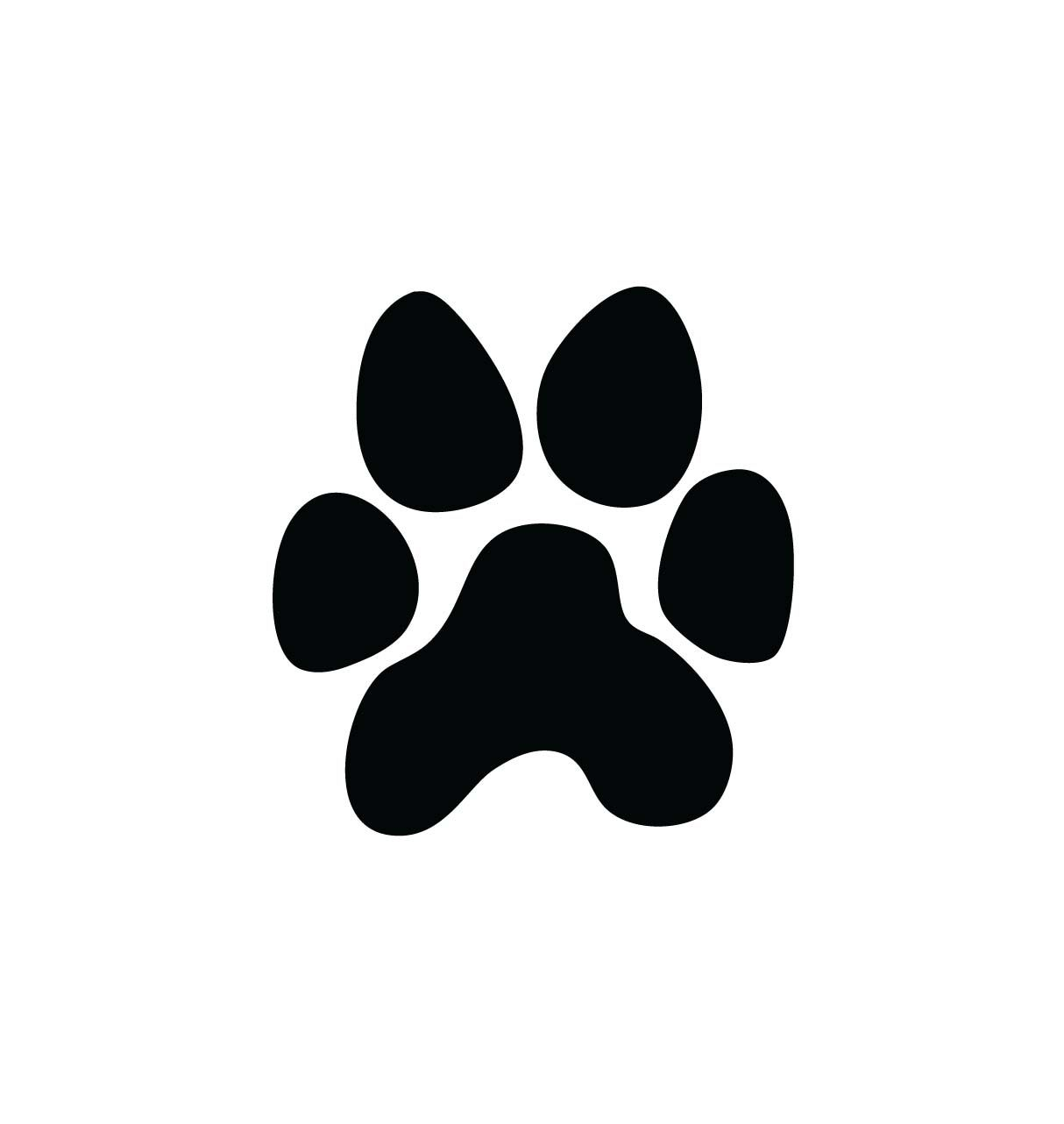 Dog paw gallery for cat clip art paw print image #19254.
