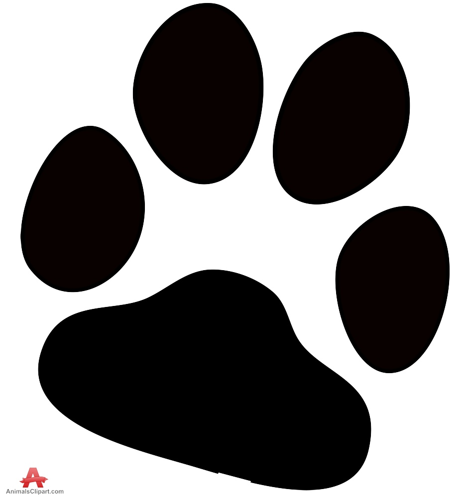 Dog paw print free clipart design download.