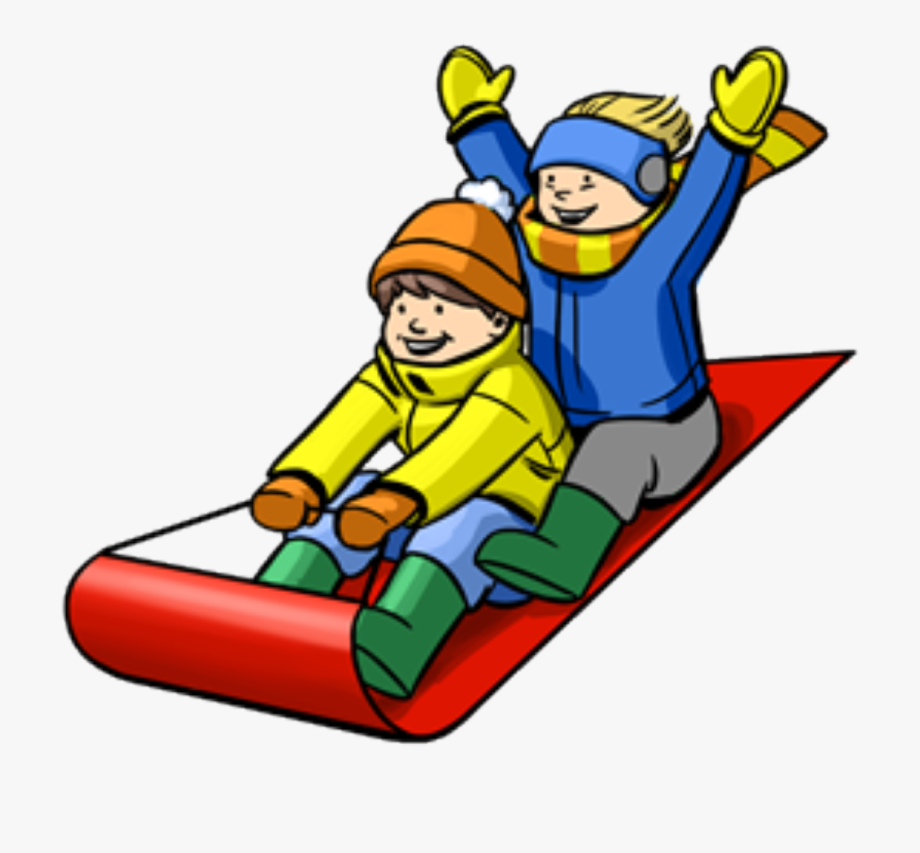 Snow Sledding Clip Art , Transparent Cartoon, Free Cliparts.