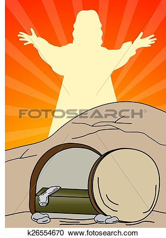 Clipart of Empty tomb.