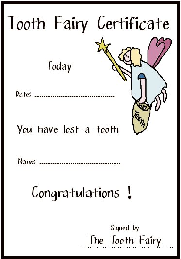 Clipart Tooth Fairy Certificate 20 Free Cliparts Download Images
