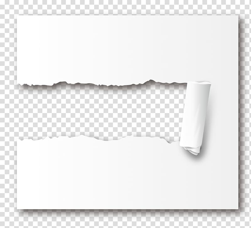 Paper Icon, Tear effect transparent background PNG clipart.
