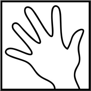 Clip Art: Senses 1 Touch B&W I abcteach.com.