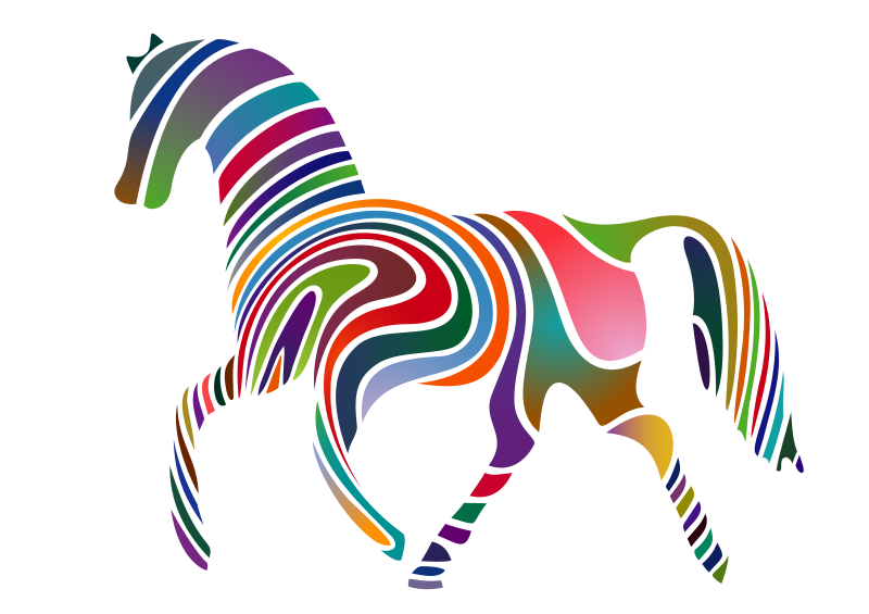 Free Clipart: Waved Horse (Spring Version) 2009.