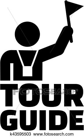 Tour guide pictogram Clipart.