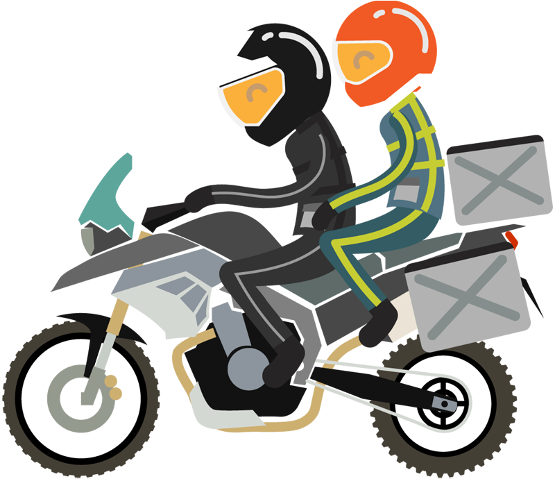 Motorcycle touring Vehicle Motoclub Clip art.