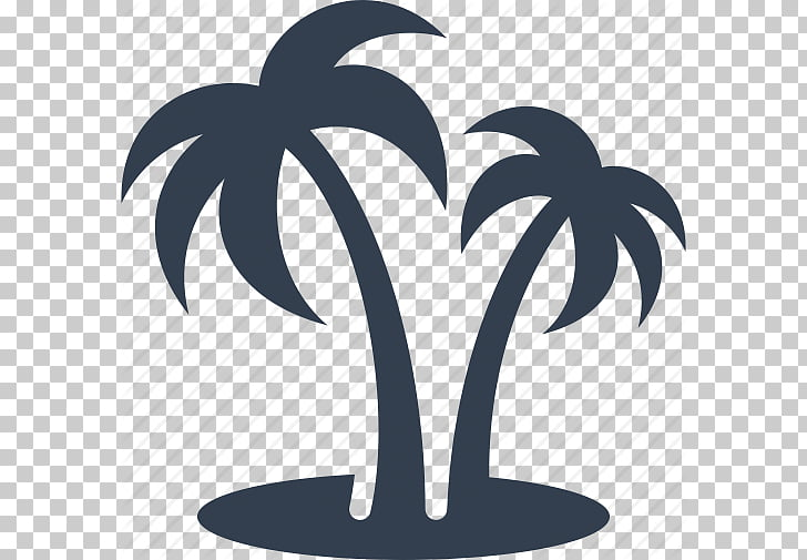 Arecaceae Silhouette , Travel Tourist Attractions Set.