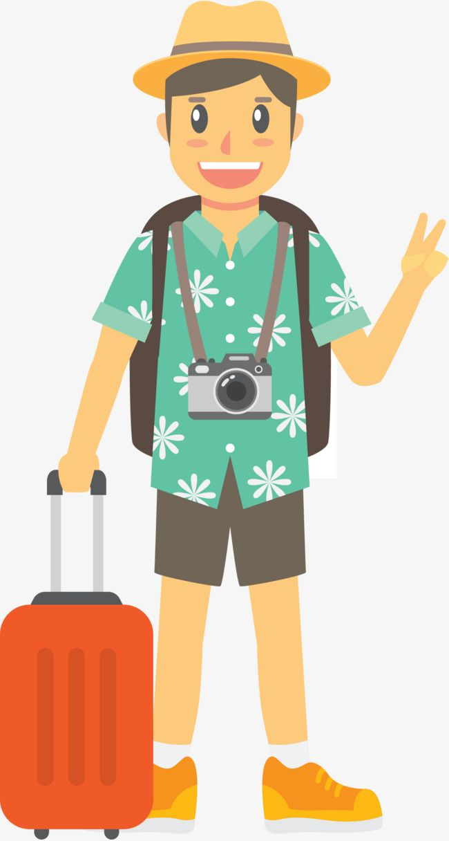 Tourists Traveling By The Sea, Sea Clipart, Tourist.