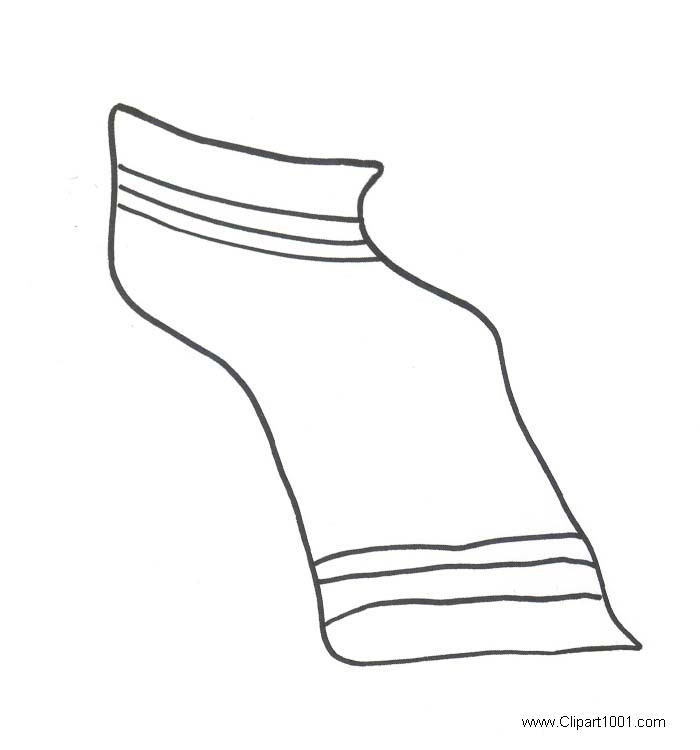 Beach Towel Clipart Simple Line Drawing.