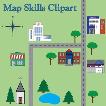 Map Skills Geography Clip Art.