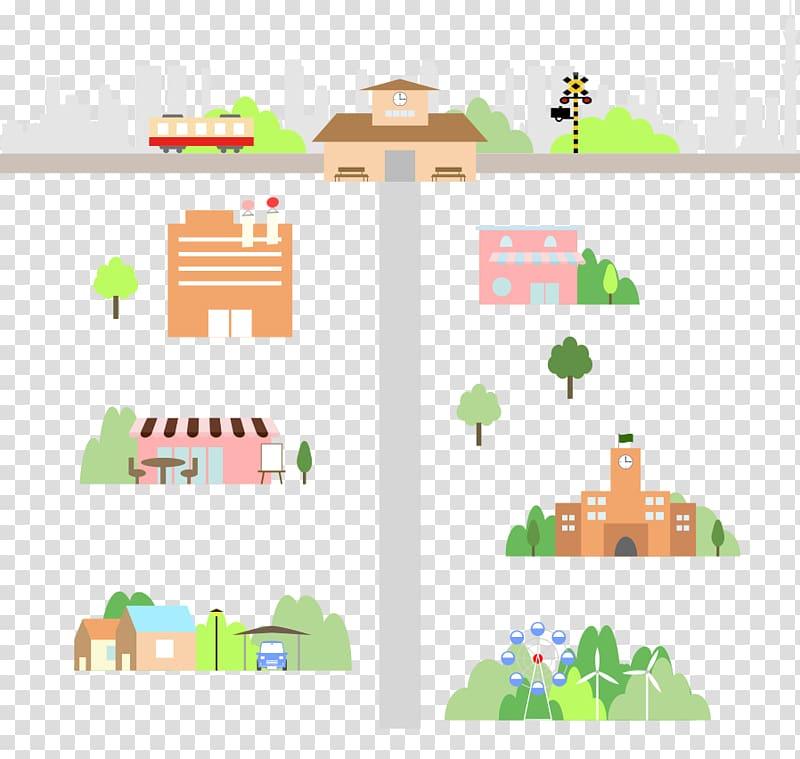Illustration, Town map transparent background PNG clipart.