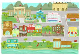 Image result for my town clipart.