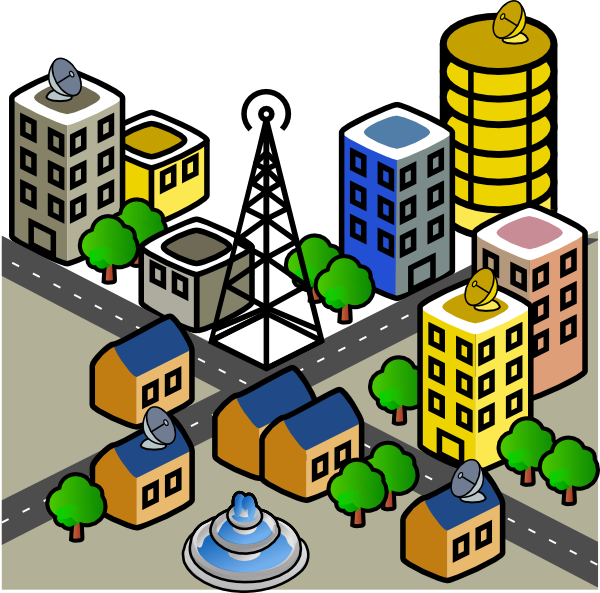 Clipart Cities and Towns.