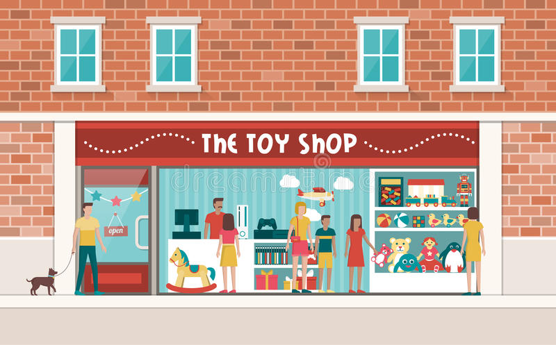 Toy Shop Stock Illustrations.